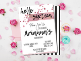 Rose Gold Birthday Party Invitation Template