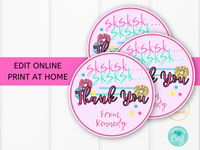 Printable VSCO Girl Thank You Party Favor Tag - sksksk - Edit and Print at Home