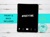 Tik Tok Style Birthday Party Invitation Digital Template, Printable Birthday Party Invitation, Edit Online, Print at Home
