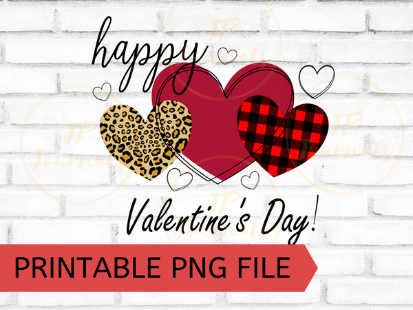 Happy Valentine's Day PNG Clip Art Sublimation Design