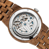 Men's Dual Wheel Automatic Walnut Wood Watch - 2019 Most Popular