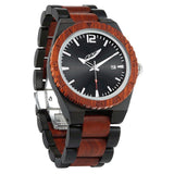 Men's Personalized Engrave Ebony & Rosewood Watches
