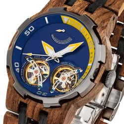 Men's Dual Wheel Automatic  Wood Watch - 2019 Most Popular