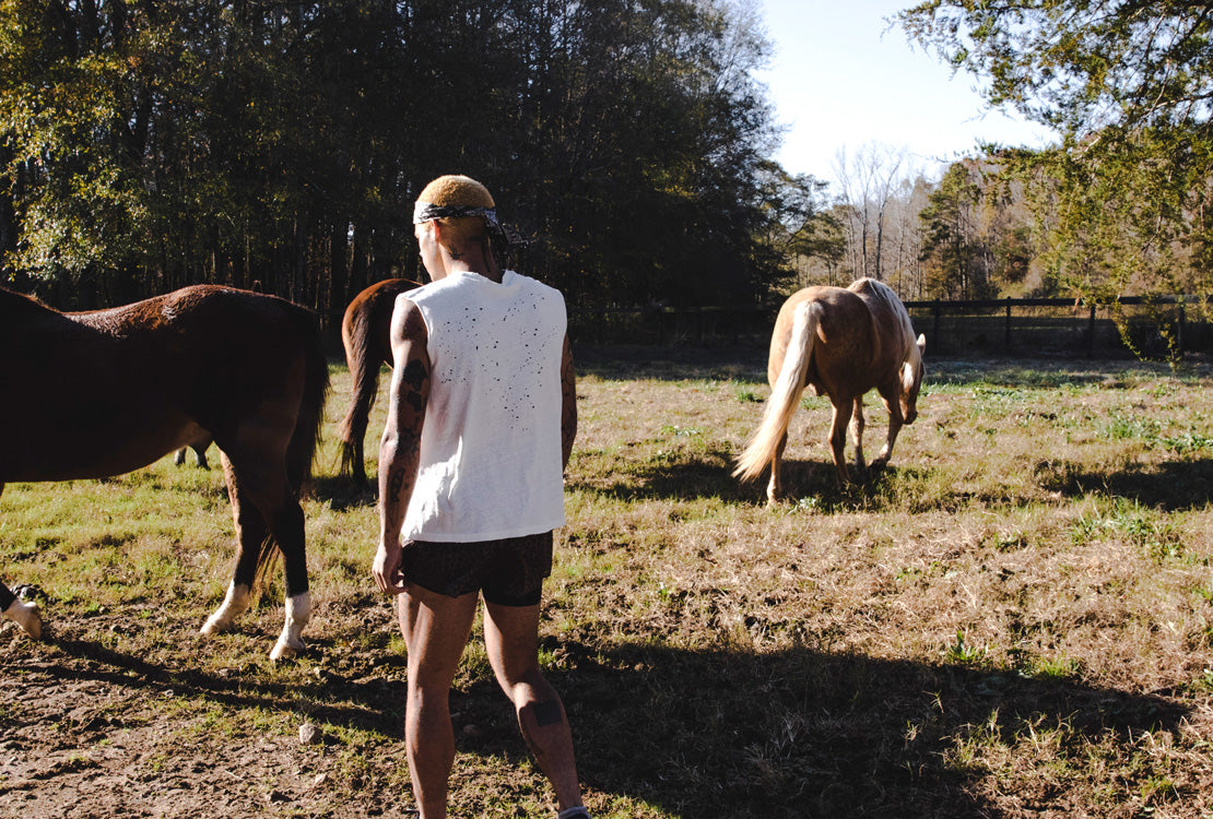 Tayler Ayers with horses
