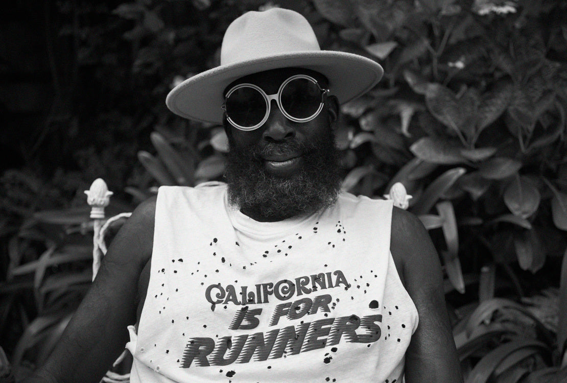 Hakim Tafari California is for Runners with a hat
