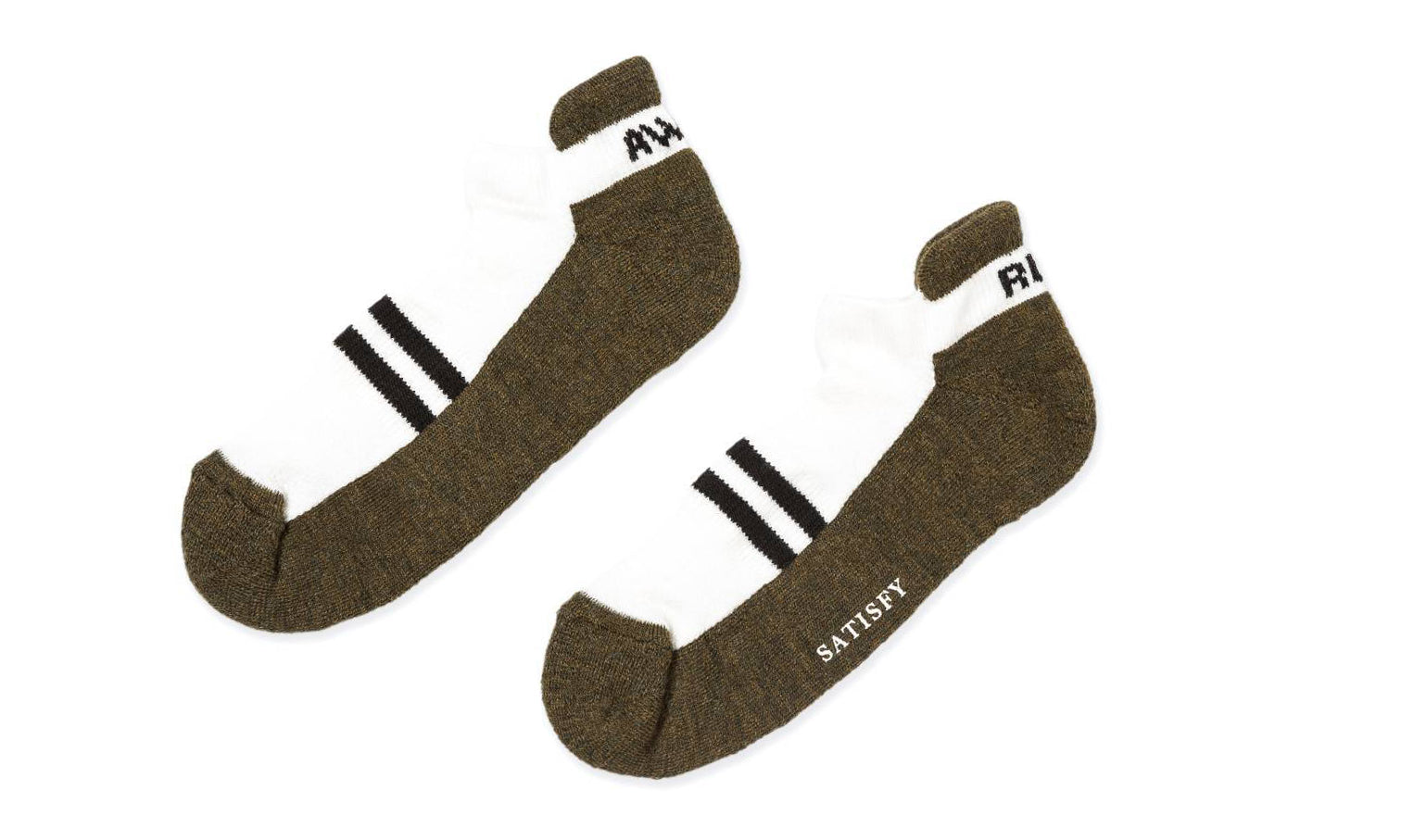 Patchwork Low Socks - Army - Front
