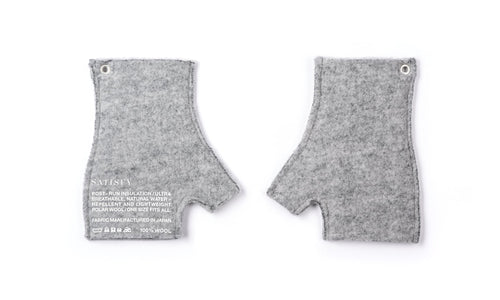 Air-Wool Cut-off Gloves - Front