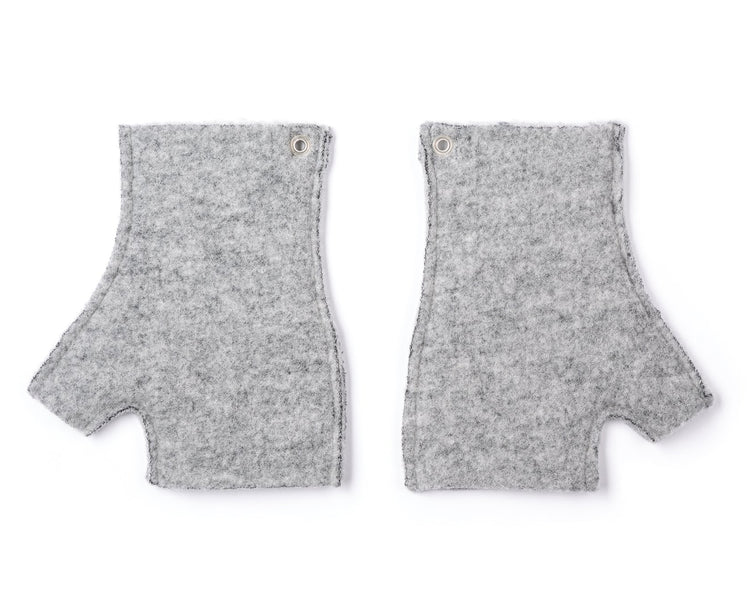 Air-Wool Cut-off Gloves - Back
