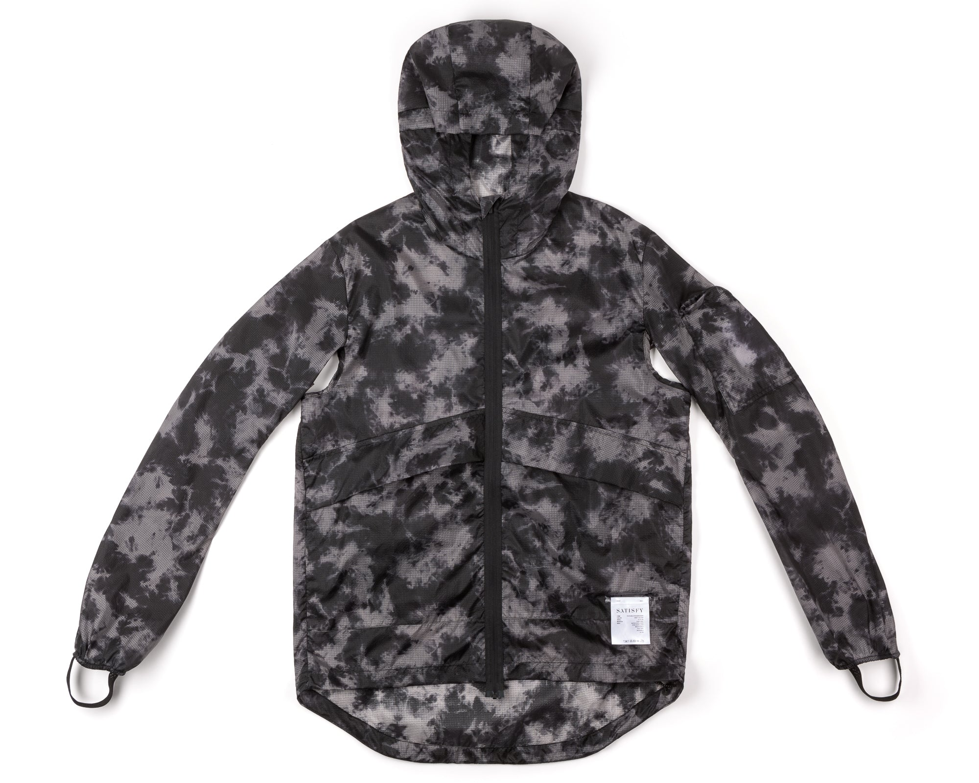 Packable Windbreaker - Grey Tie-Dye - Front
