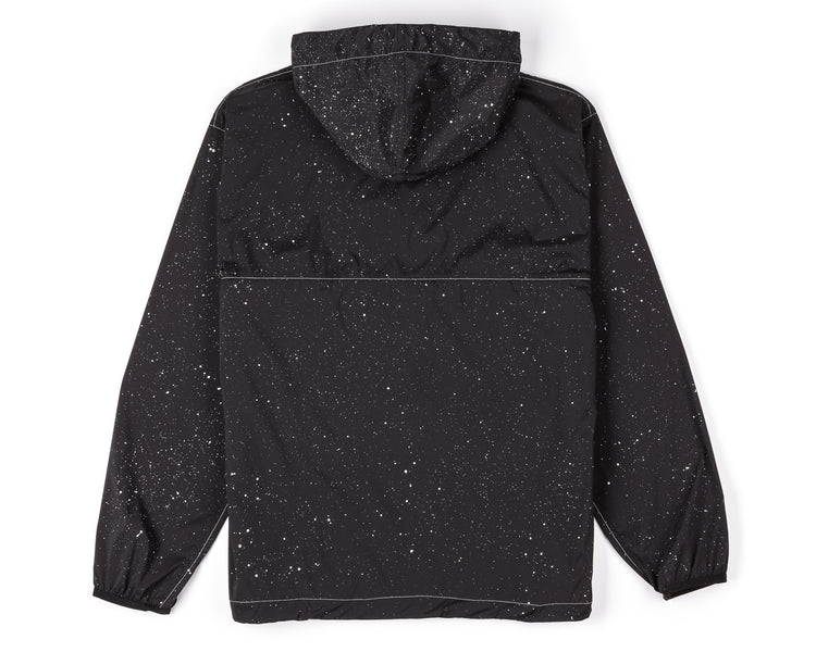 Anorak - Black Silk Splattered - Back