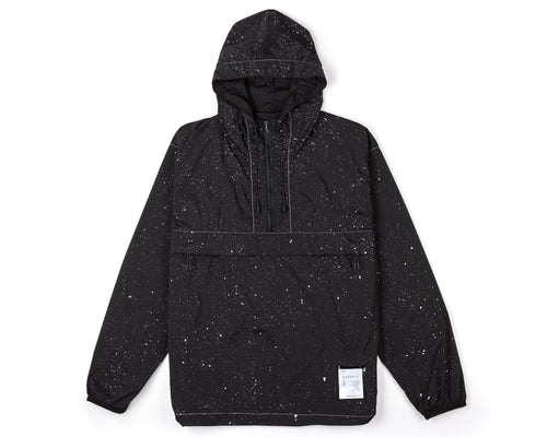 Anorak - Black Silk Splattered - Front