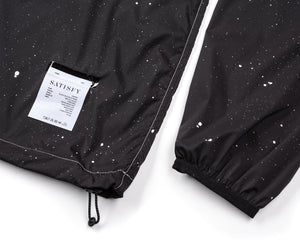 Anorak - Black Silk Splattered - Label
