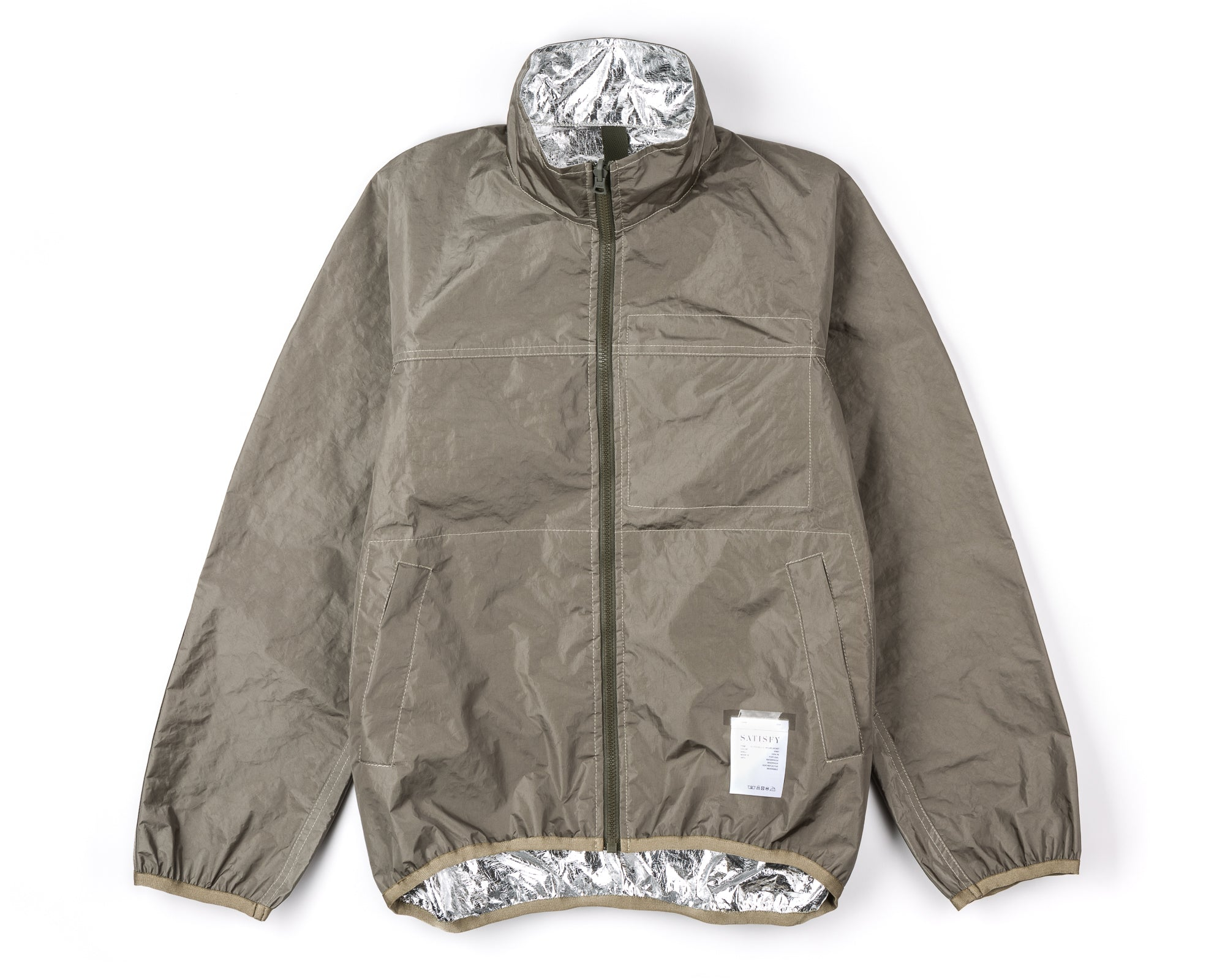 Reversible 2L-Mylar Jacket - Army - FrontFront