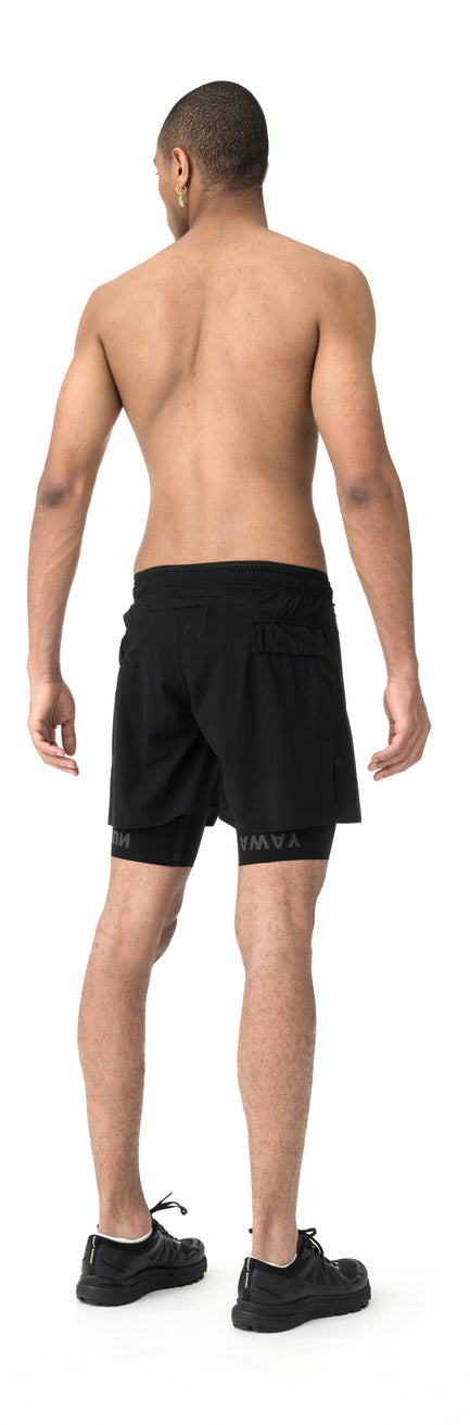 "Justice Trail Long Distance 10"" Shorts - Model back side"