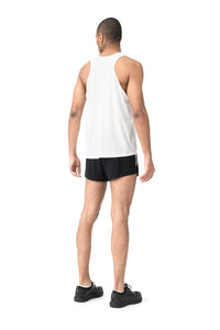Race Singlet - White - Model Back