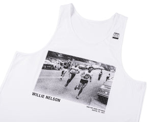 Race Singlet - White - Front Side