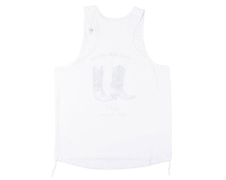 Race Singlet - White - Back