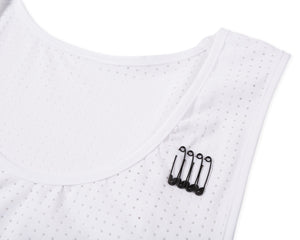 Race Singlet - White - Attach