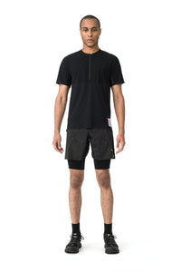 Justice Trail Tee - Black - Model Front