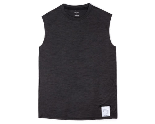 Cloud Merino 100 Muscle Tee - Front