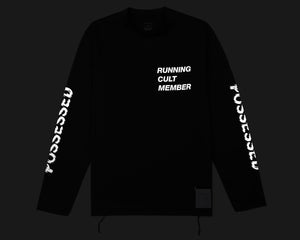 Light Long Tee - Black - Front Reflective