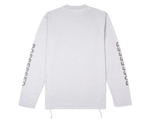 Light Long Tee - Light Grey - Back
