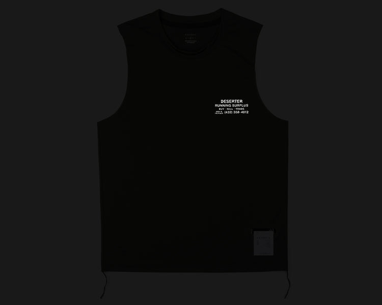 Light Muscle Tee - Army - Front Reflective