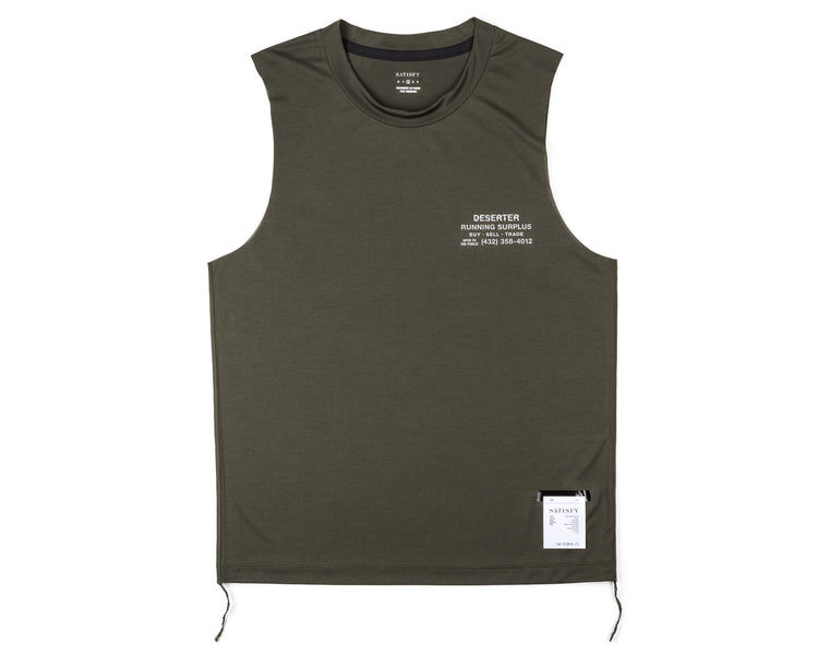 Light Muscle Tee - Army - Front