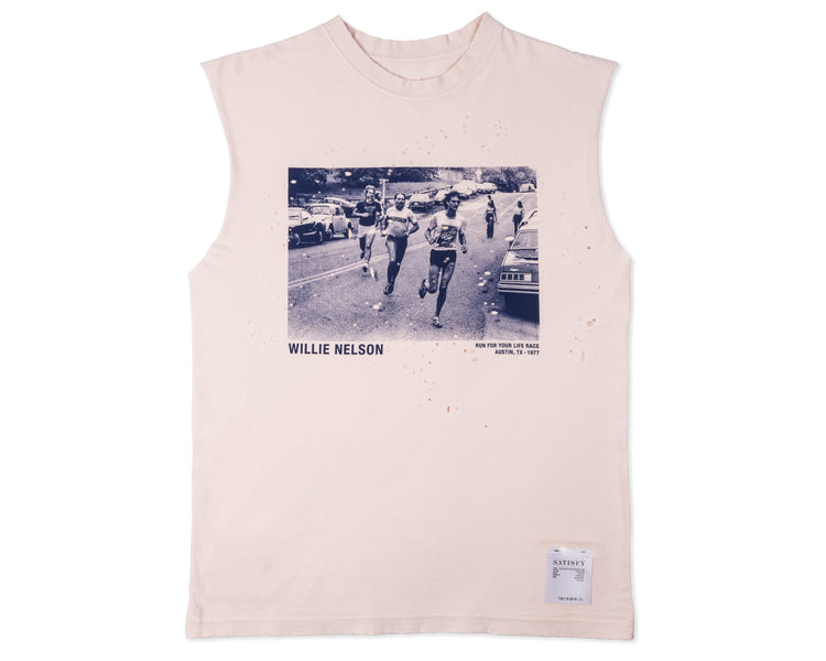Willie Moth Eaten Muscle Tee - Front
