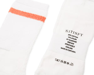 Reverse Tube Socks - Coral Stripe - Label