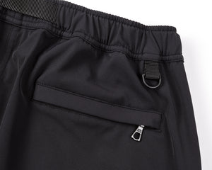 Post Run and Hiking Trousers - Black - Riri Zip