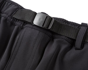 Post Run and Hiking Trousers - Black - Belt