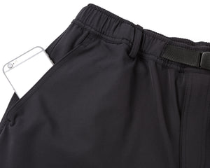 Post Run and Hiking Trousers - Black - Phone pocket