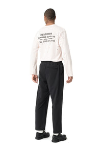Post Run and Hiking Trousers - Black - Model Back