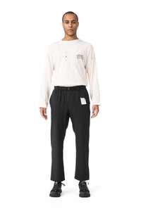 Post Run and Hiking Trousers - Black - Model Front