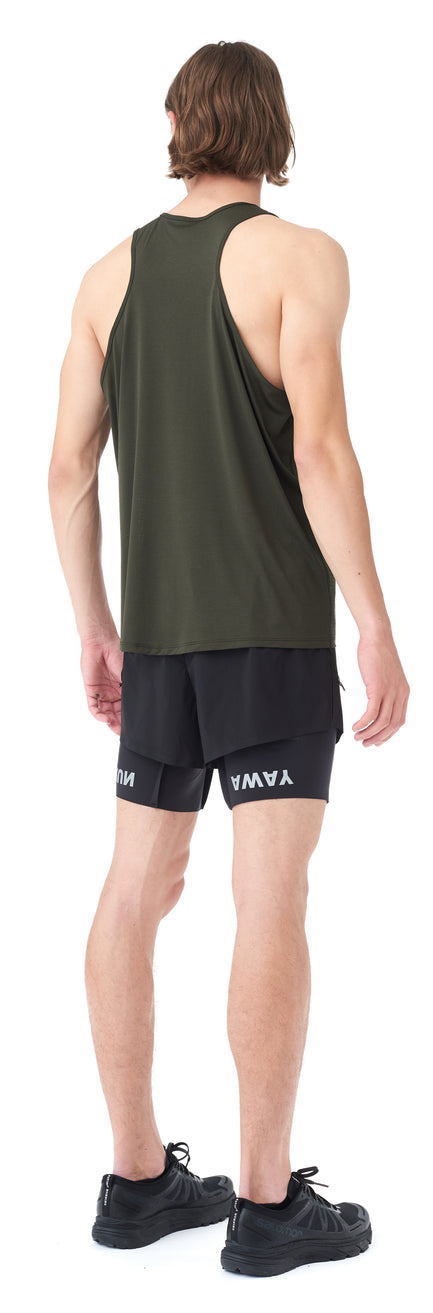 Race Singlet - Army - Model Back