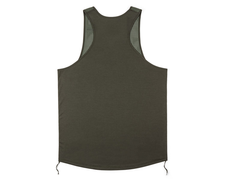 Race Singlet - Army - Back