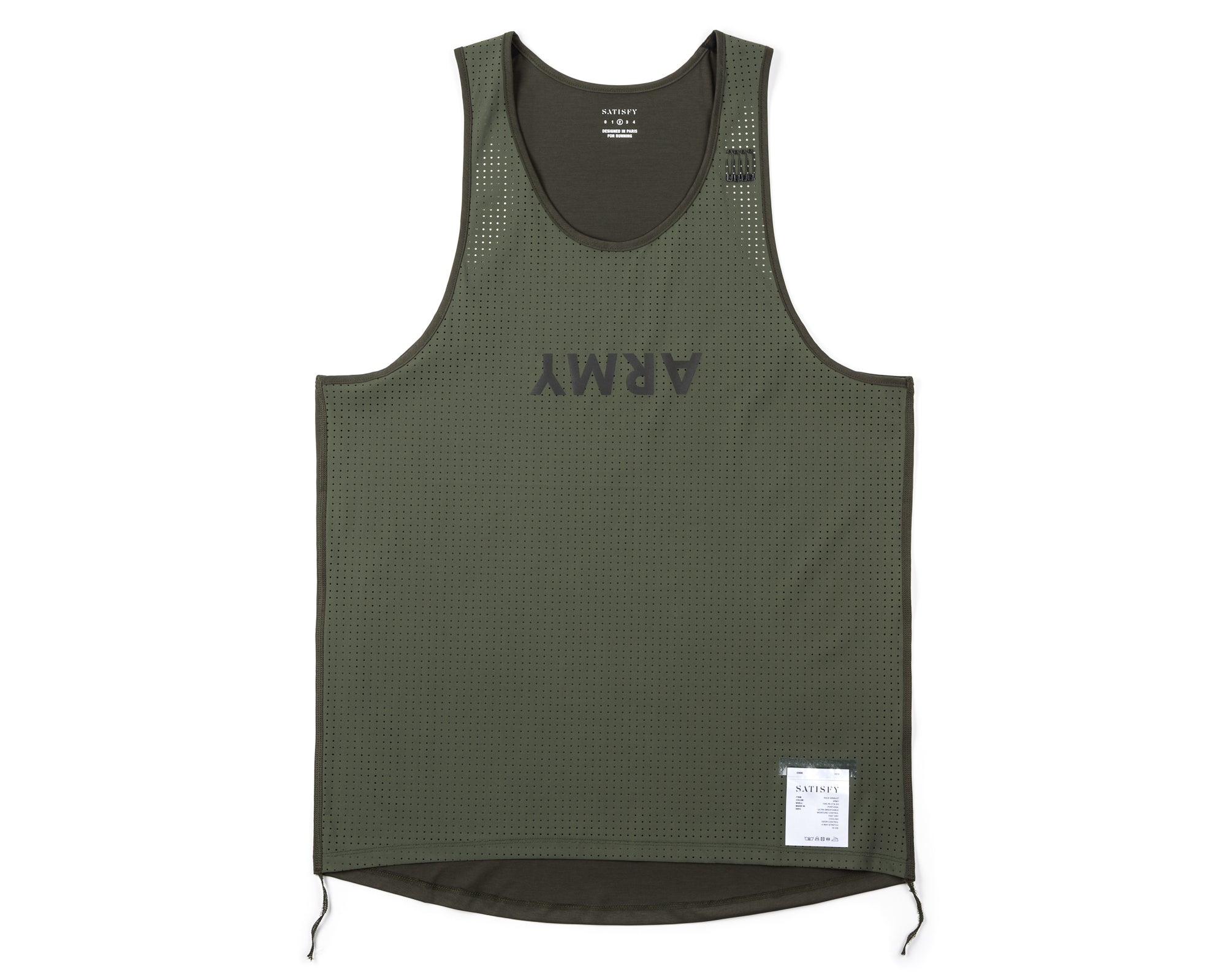 Race Singlet - Army - Front