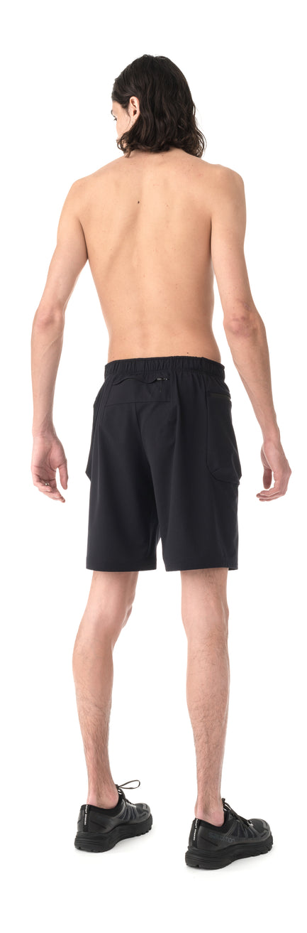 "Justice™ Merino 8"" Shorts - Black - Model Back"