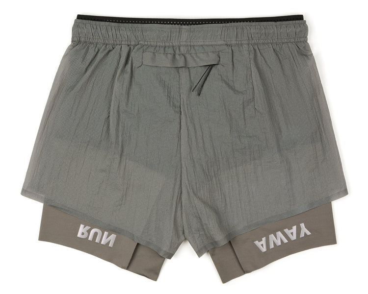 "Coffee Thermal Short Distance 8"" Shorts - Steel - Back"