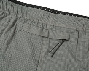 "Coffee Thermal Short Distance 8"" Shorts - Steel - Back Pocket"