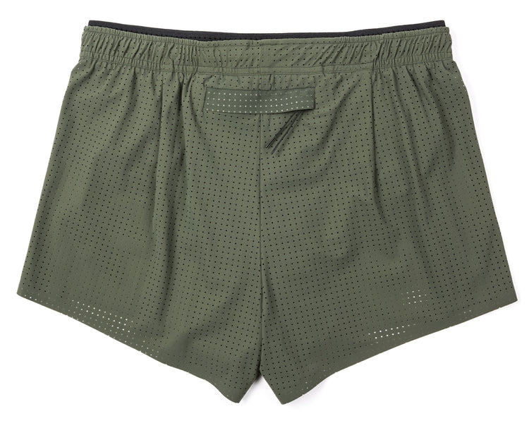 "Short Distance 2.5"" Shorts - Army - Back"