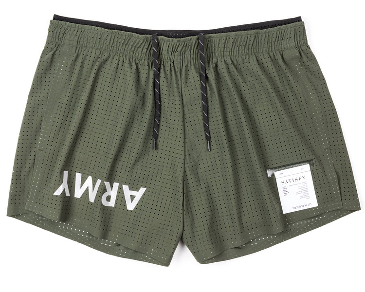 "Short Distance 2.5"" Shorts - Army - Front"