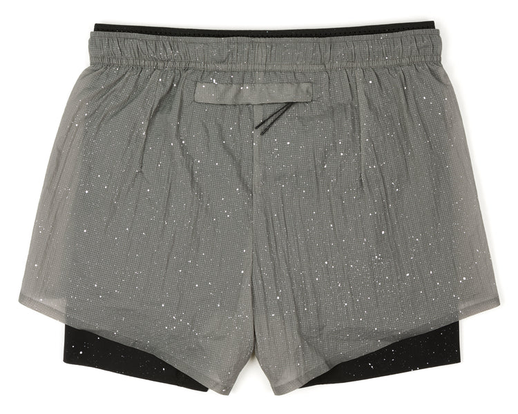 "Short Distance 3"" Shorts - Steel Splattered - Back"