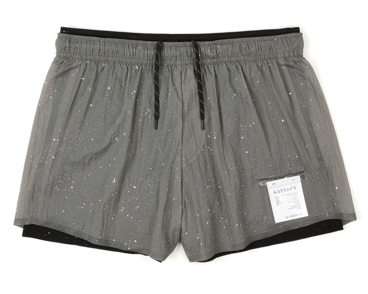 "Short Distance 3"" Shorts - Steel Splattered - Front"