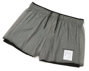 "Short Distance 3"" Shorts - Steel Splattered - Front Side"