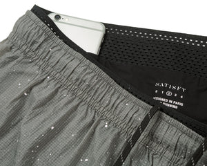 "Short Distance 3"" Shorts - Steel Splattered - Phone Pocket"