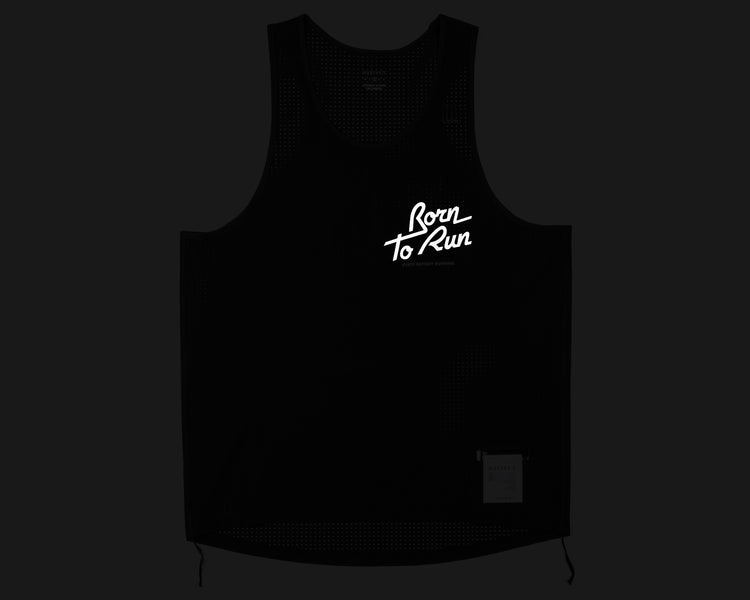 Race Singlet - Born to Run - Front Reflective