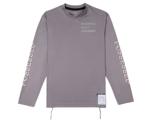 Light Long Tee - Steel - Front