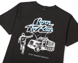 Moth Eaten T-Shirt - Born to Run - Front Side